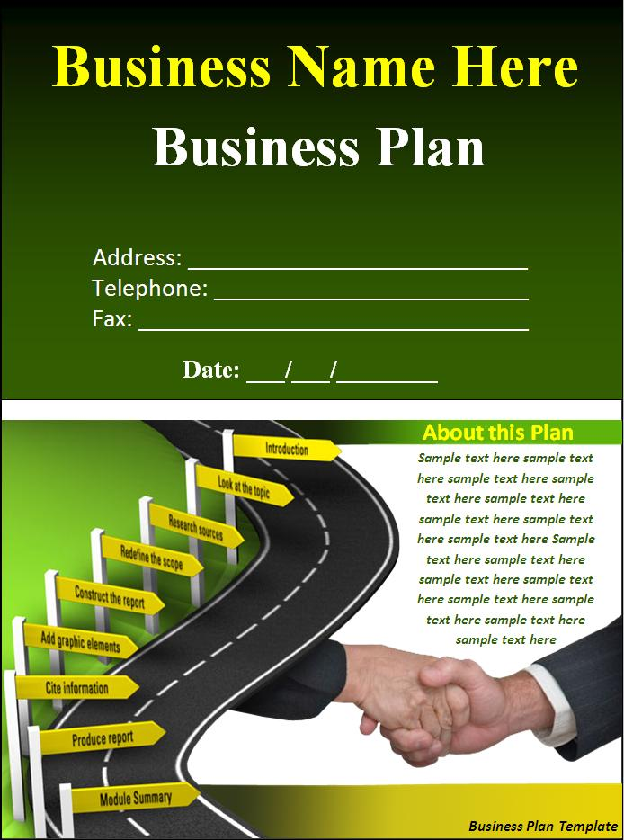 cover page for business plan template
