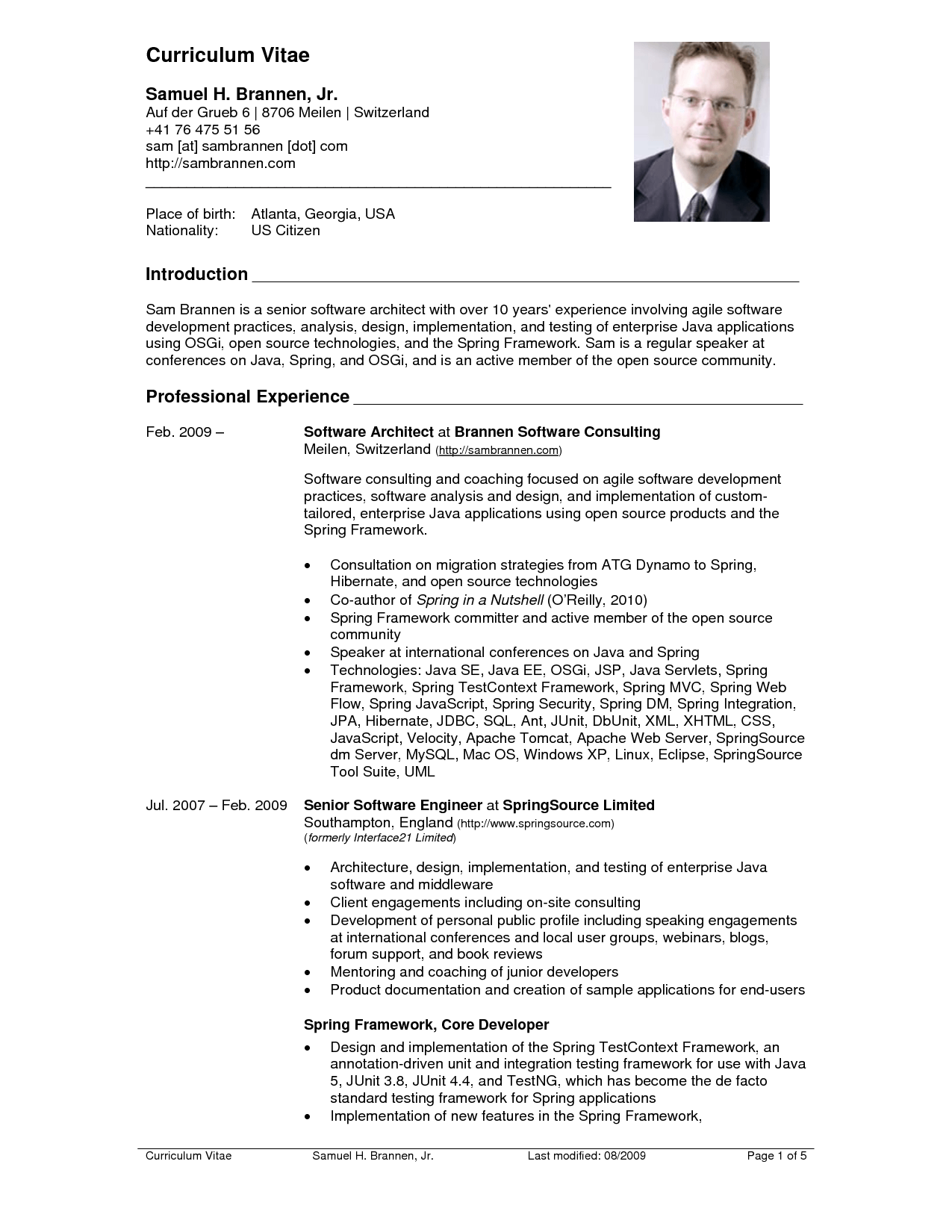 an example of curriculum vitae Curriculum vitae examples and writing tips, including cv samples, templates, and advice for us and international job seekers.