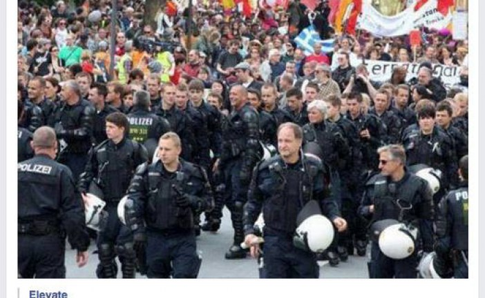 Did German Police Officers March Against The Rothschild European Central Bank? (Updated)