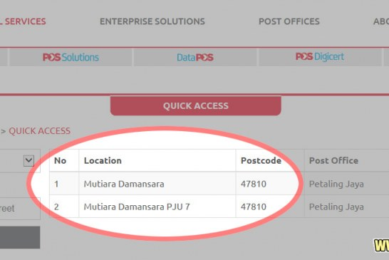 The Correct Postcode For Mutiara Damansara