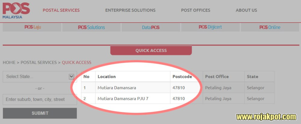 The Actual Postcode For Mutiara Damansara