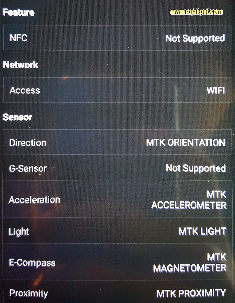 IPRO Sight Silver Specifications - Feature, Network & Sensor