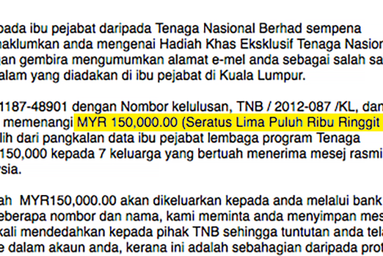 The RM 150,000 TNB Scam