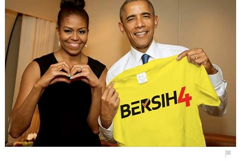 Michelle & Barack Obama Support Bersih 4