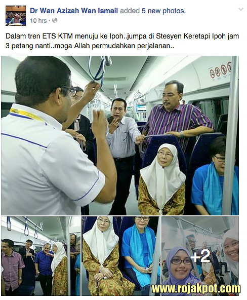 Wan Azizah On The KTM ETS Train