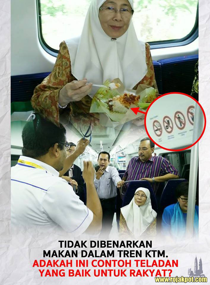 No Eating only on the KTM Komuter!