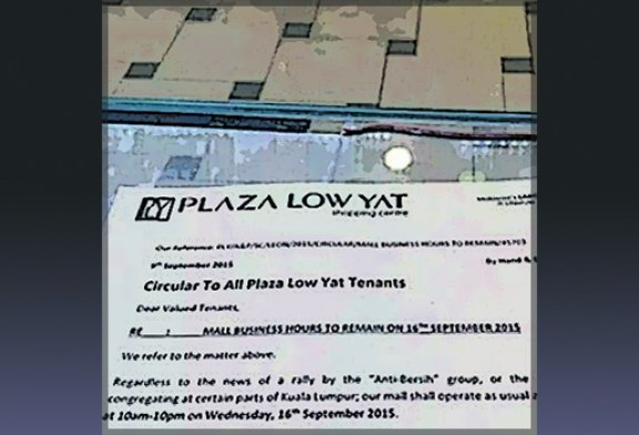 Plaza Low Yat Remains Open During The Red Shirt Rally