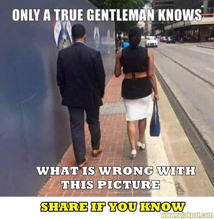 Only A True Gentleman Knows What Is Wrong!