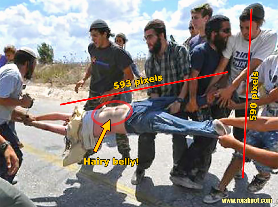 Israelis Tearing A Palestinian Child Apart