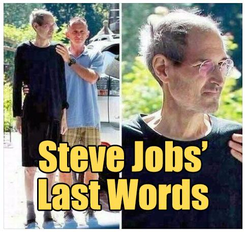 Steve Jobs' Last Words - The Rojak Pot