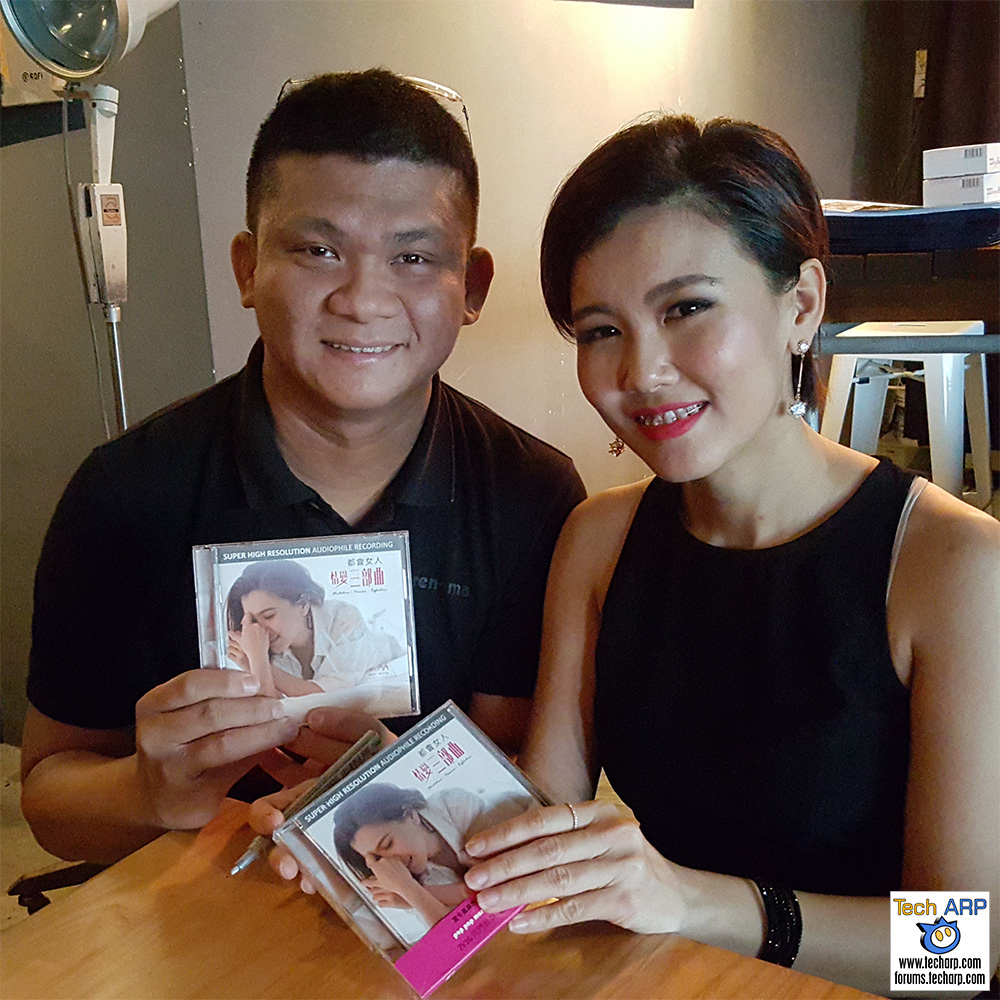 May Mow and I with her solo album