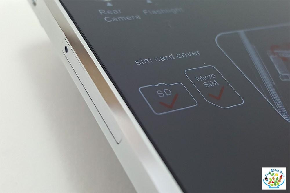 EXMobile iCute Plus Smartphone SIM slot