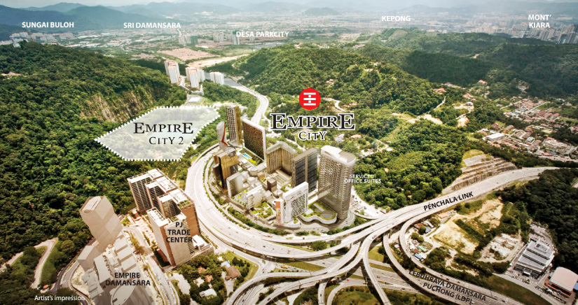 Empire City Damansara Location