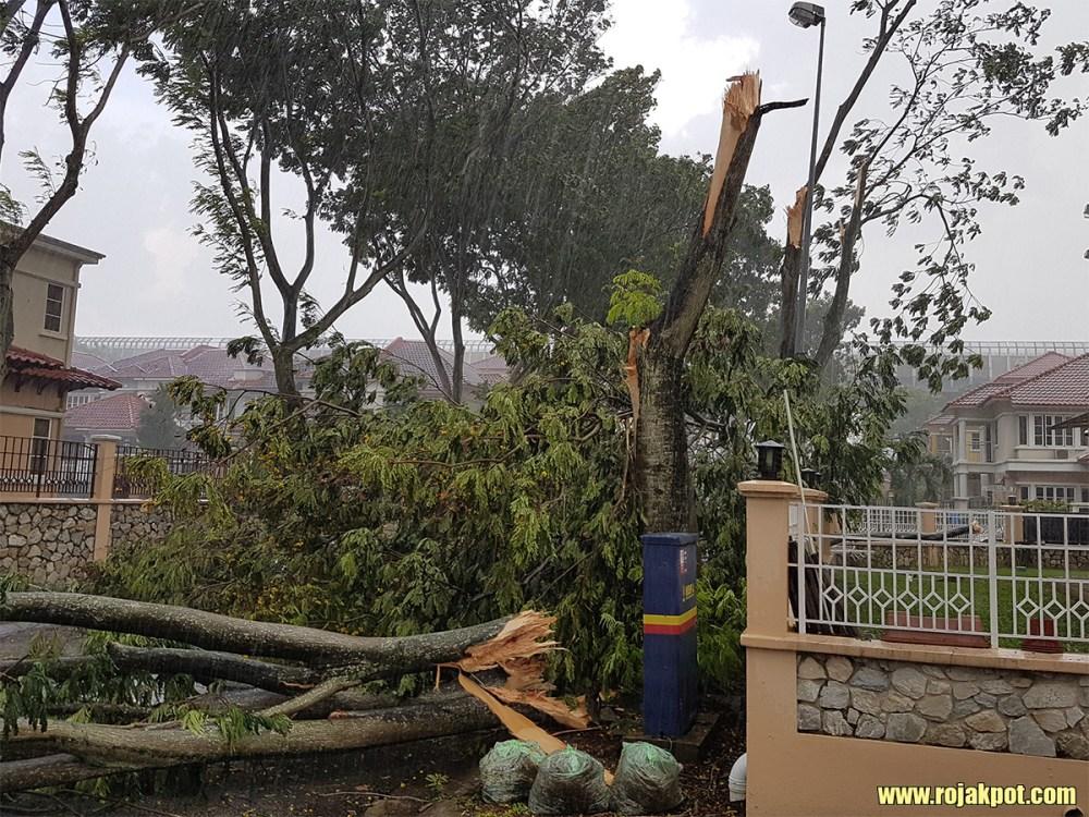 Freak Storm Ravages Mutiara Damansara