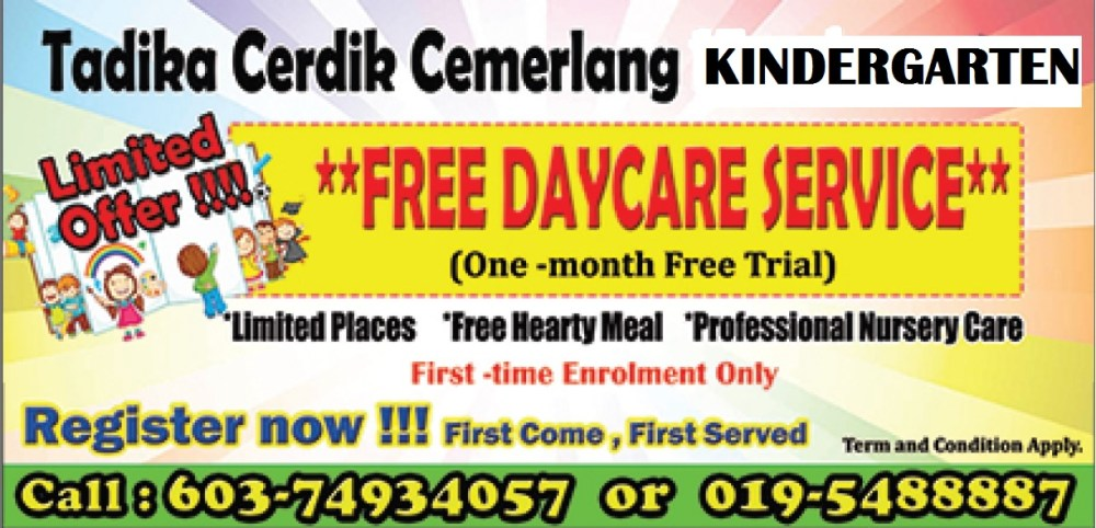 Tadika Cerdik Cemerlang Montessori Kindergarten daycare offer