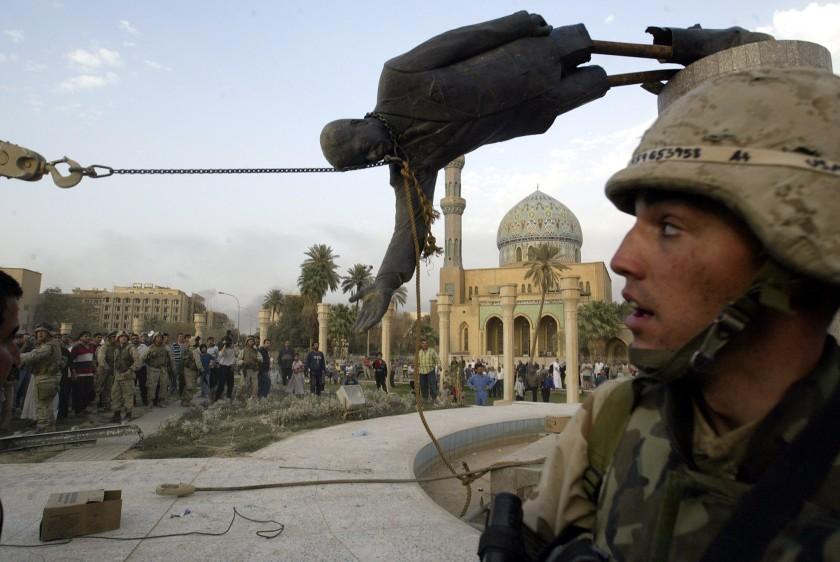 The Fall of Saddam Hussein's statue