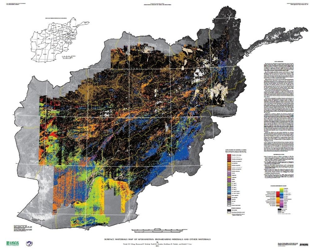 US Geological Survey Afghanistan map