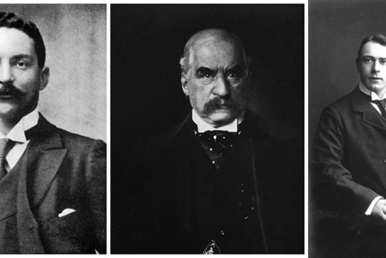 Which of these 3 men built the RMS Titanic?  L to R : J.  Bruce Ismay, J. P. Morgan, Thomas Andrews