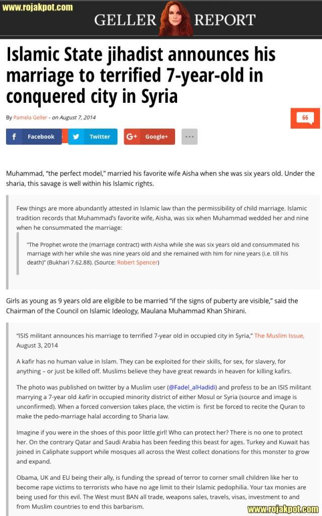 Geller Report - ISIS jihadist married 7 year old girl