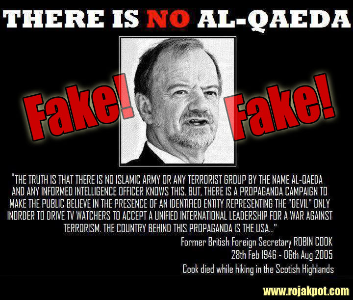 Robin Cook Did Not Say There Is No Al-Qaeda