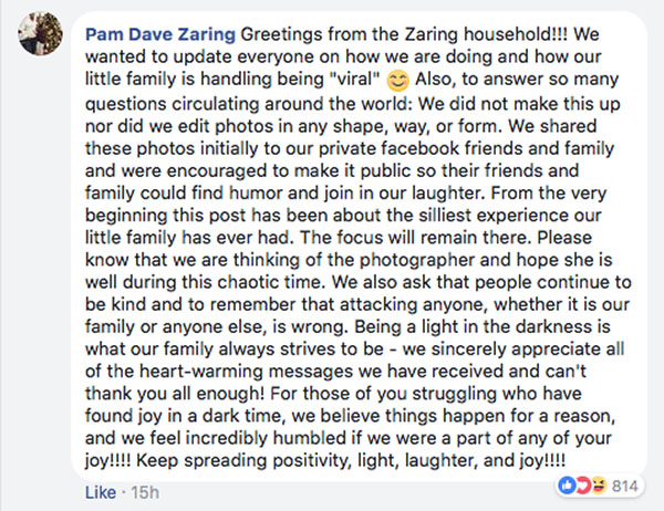 Pam Dave Zaring FB post