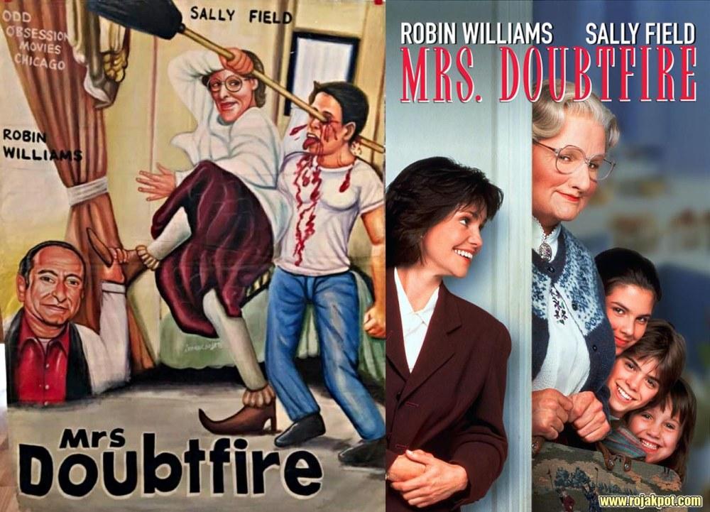 Mrs Doubtfire - Ghana movie poster compared