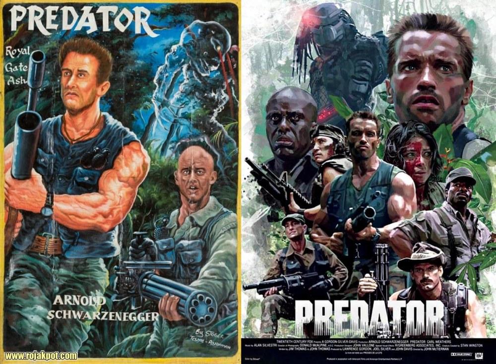 Predator - Ghana movie poster compared