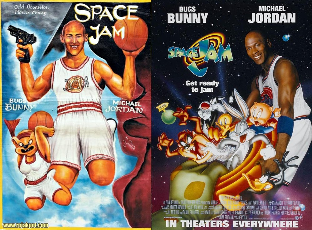 Space Jam - Ghana movie poster compared