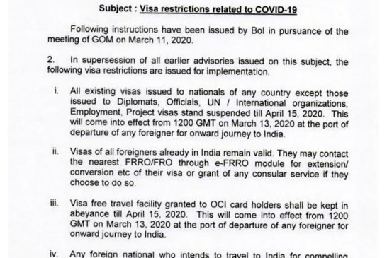 India Visa Restrictions 01
