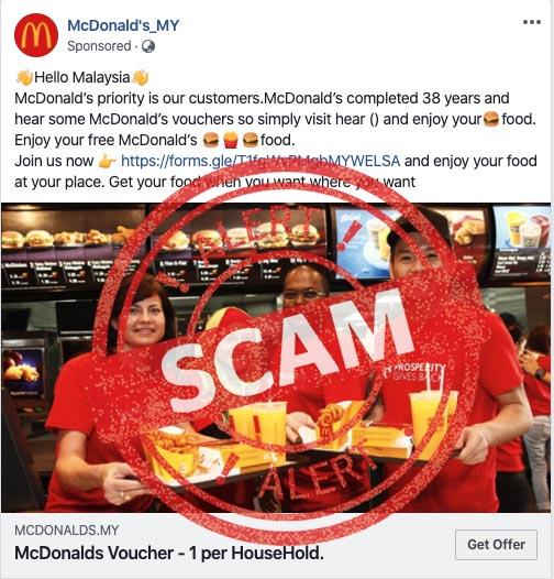 McDonald's Malaysia Voucher Scam
