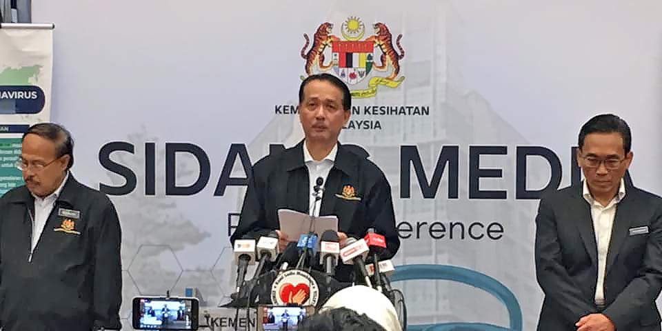 COVID-19 in Malaysia : 6535 Cases, 4864 Healed, 107 Dead