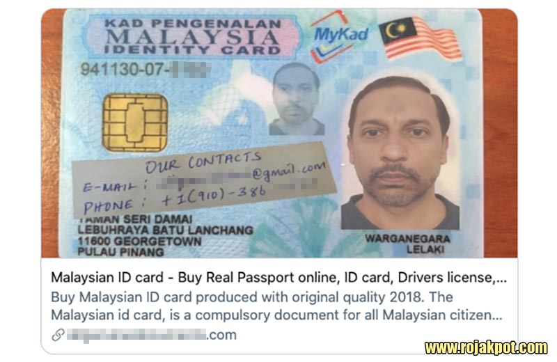 Fake Malaysian documents offer