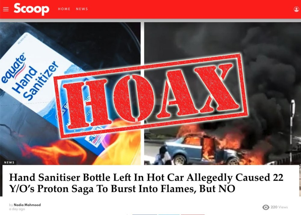 Car Catching Fire From Hand Sanitiser Hoax Debunked!