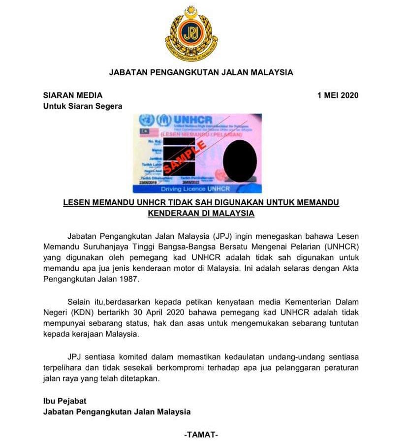 JPJ Statement
