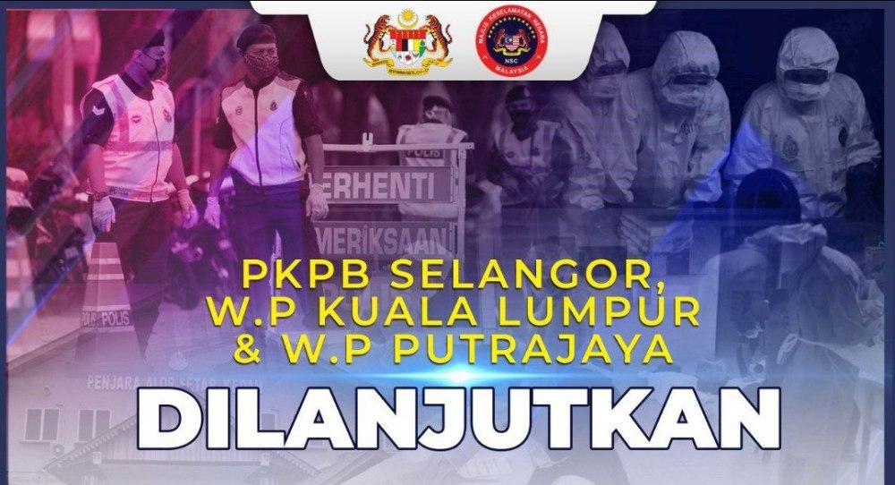 KL, Selangor, Putrajaya CMCO / PKPB Extended 2 Weeks!