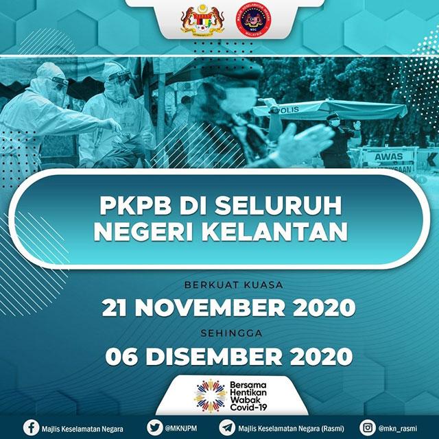 Kelantan Under CMCO / PKPB Starting 21 November!