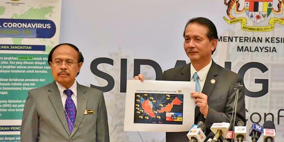 COVID-19 Malaysia : 91969 Cases, 76242 Healed, 433 Dead