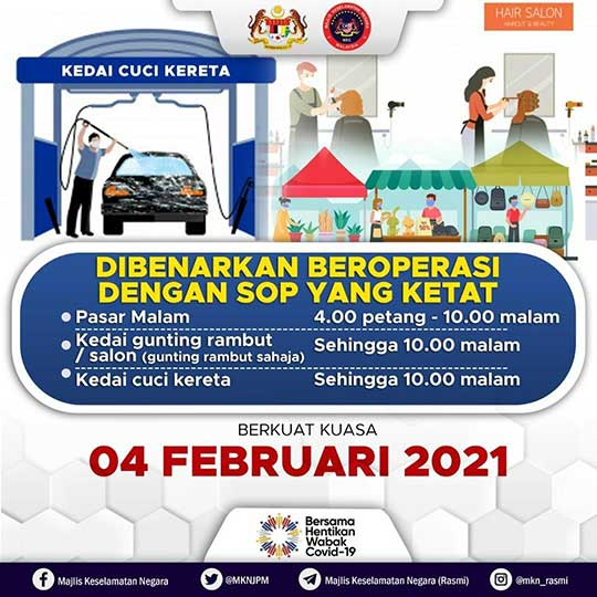 MCO 2.0 : Barber, Hair Saloon + Car Wash Allowed To Open!