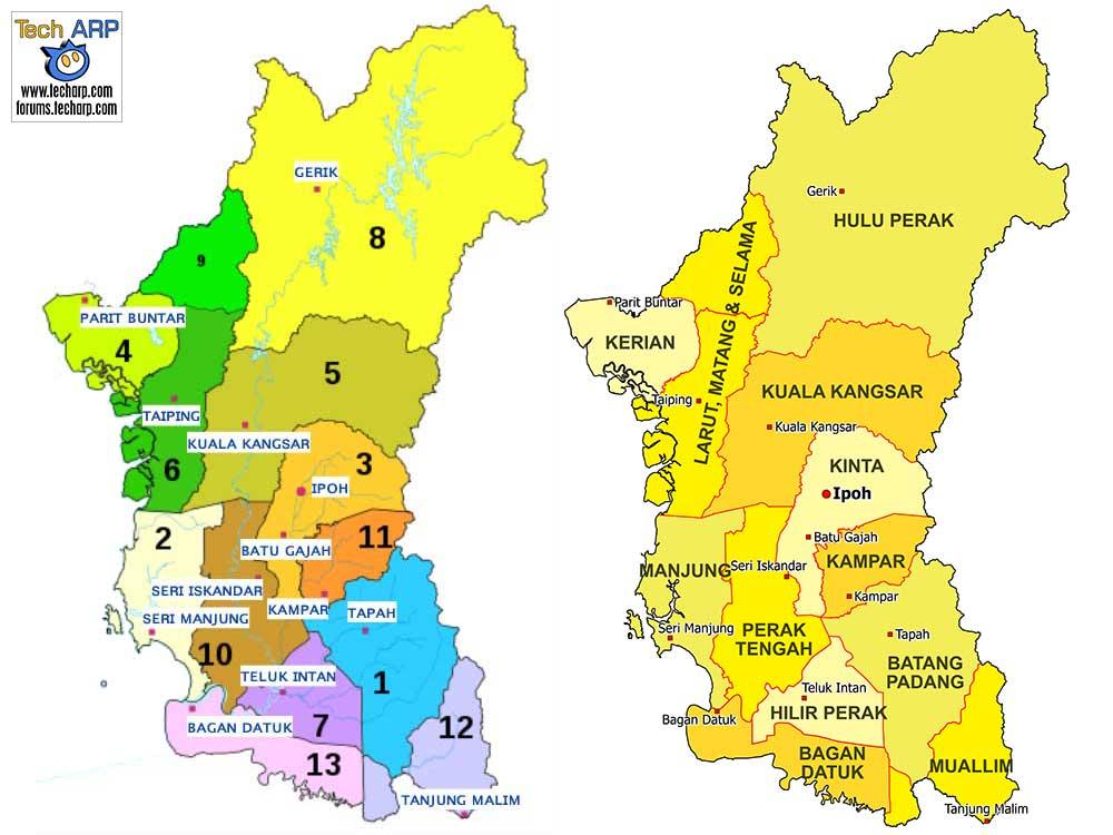 Perak district maps