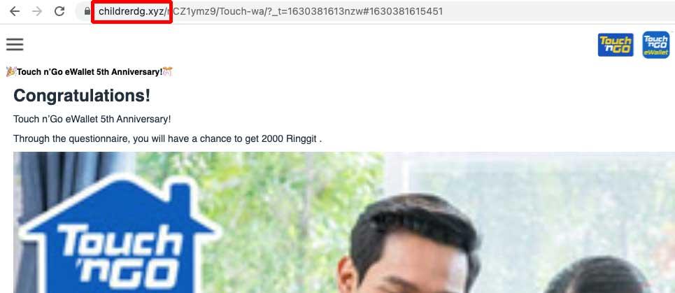 Scam Alert : TnG eWallet 5th Anniversary Survey!
