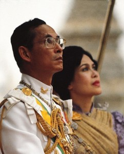 BANGKOK, THAILAND - 1982/03/03: The King Bumiphol and Queen Sirikit of Thailand (photographed in 1982). (Photo by Roland Neveu/LightRocket via Getty Images)