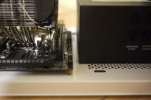 you should install the RAM before mounting the fan