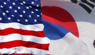korea us flag image