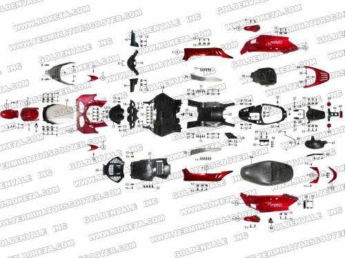 small resolution of mc54 roketa go kart carburetor assembly roketa 250cc scooter wiring diagram