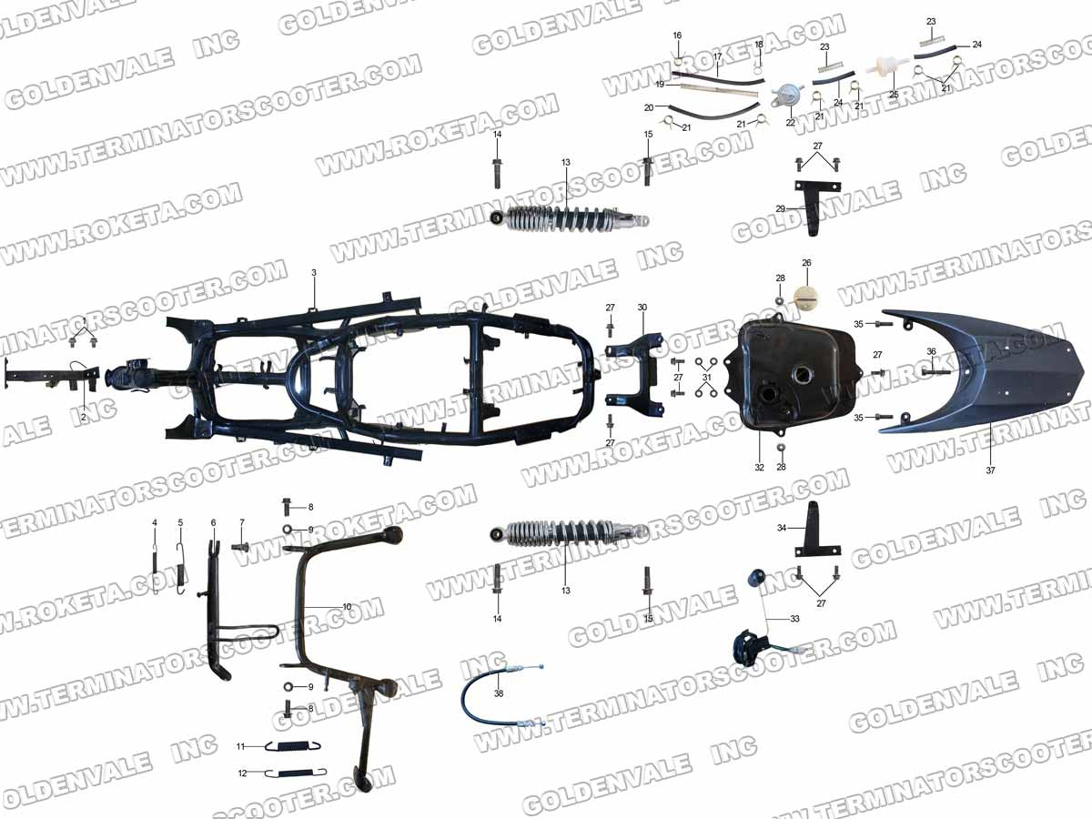 ROKETA MC-30-150 FRAME PARTS