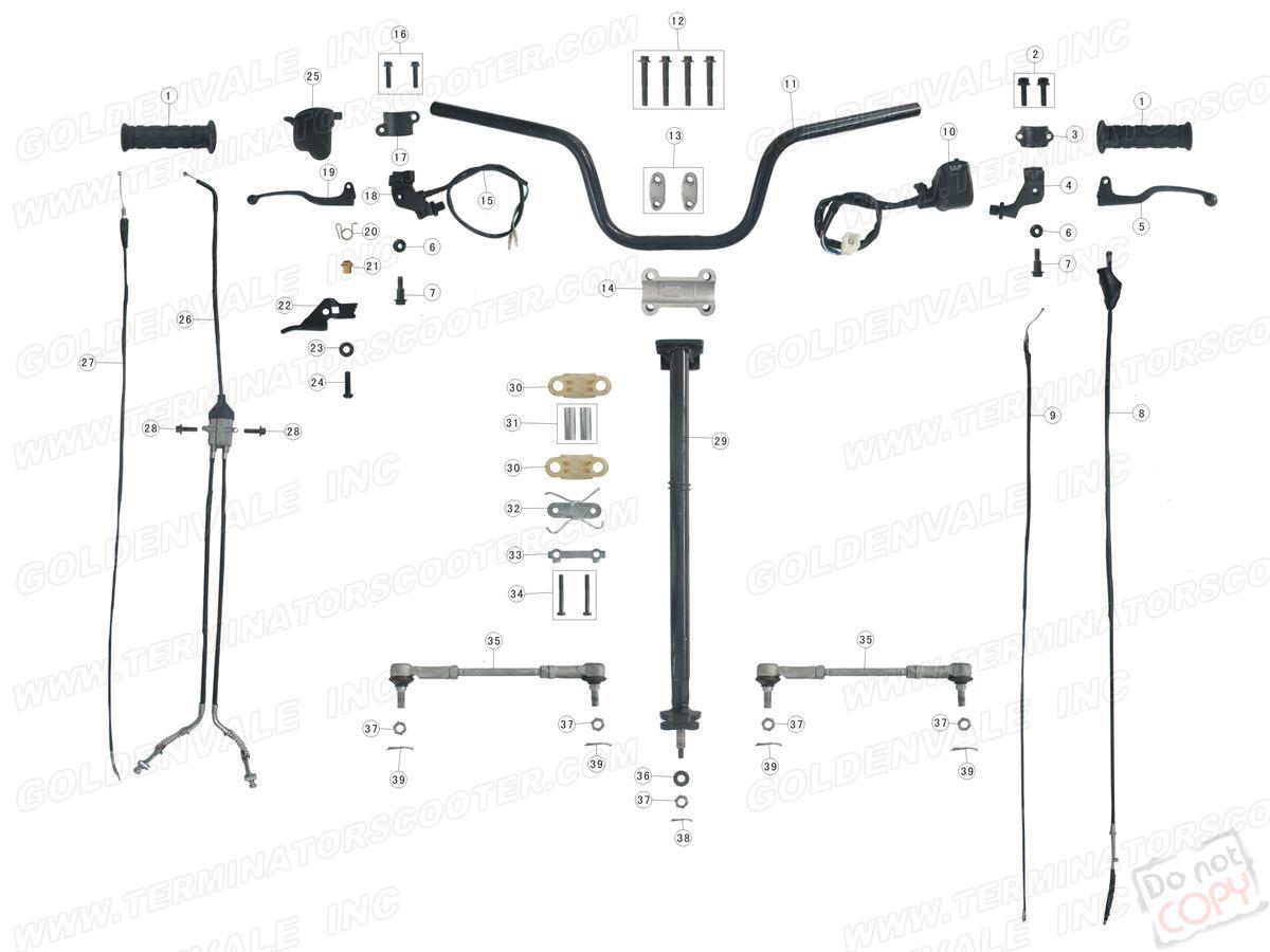 Roketa Atv 02 Steering Assembly Parts