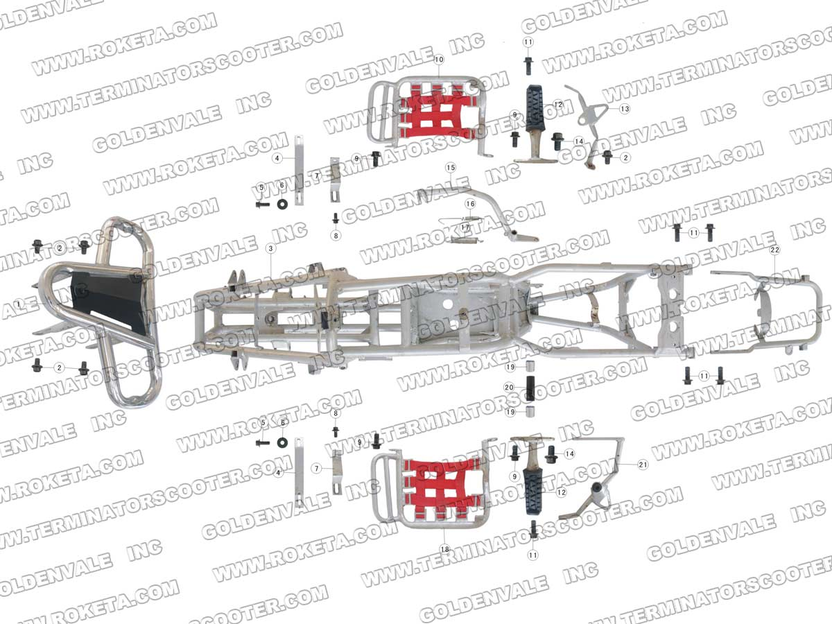 ROKETA ATV-03-110 FRAME PARTS