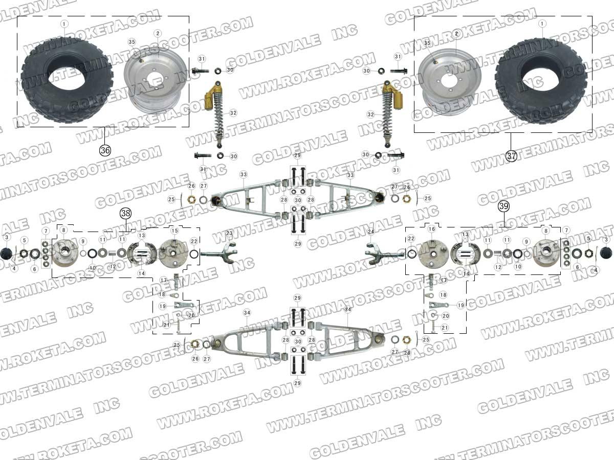 Coolster Atv 3050c Wiring Diagram Roketa ATV Wiring