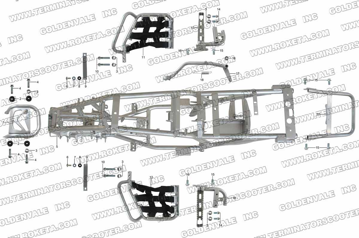 Roketa Atv 04wc Frame Parts