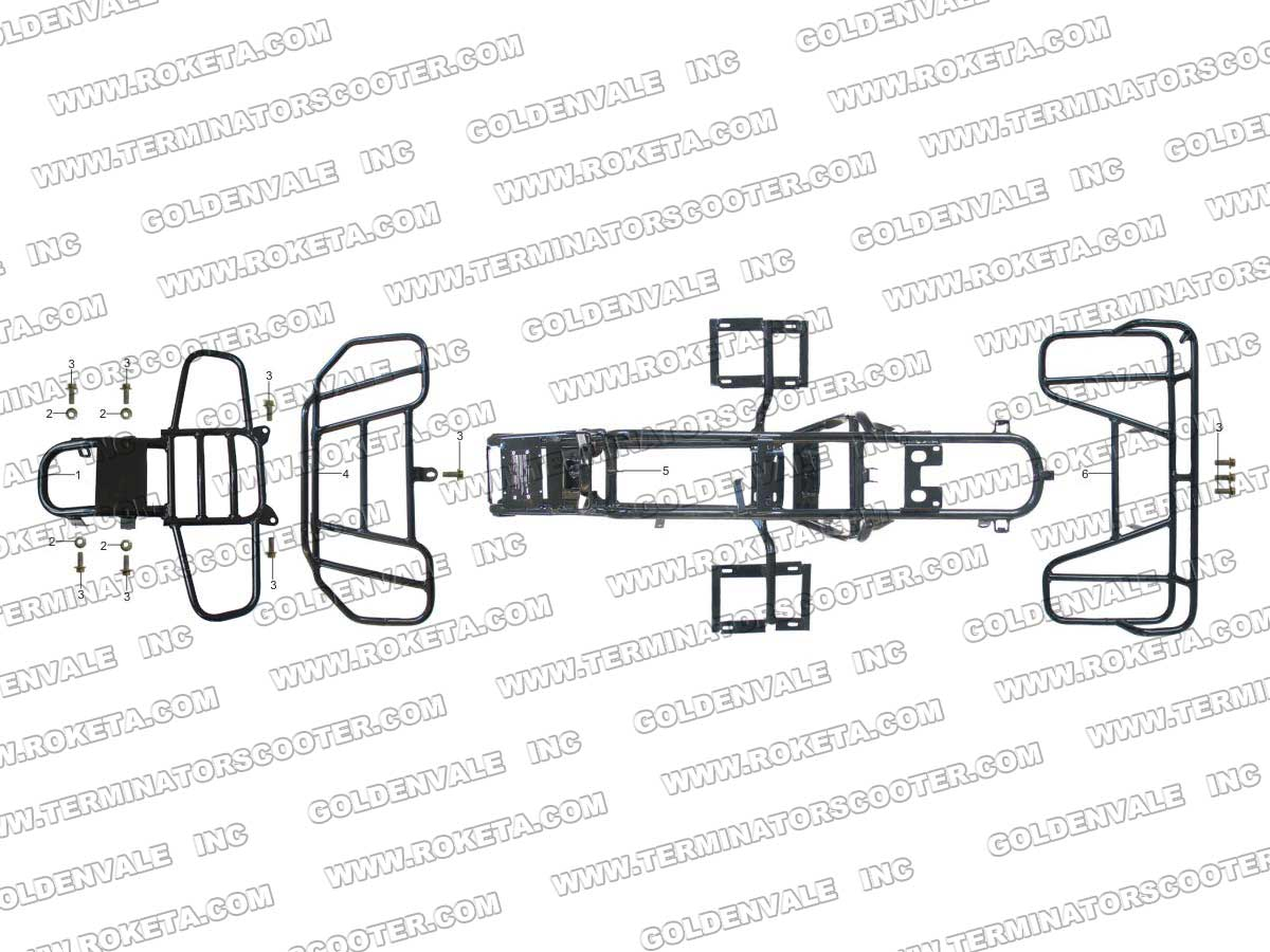 Roketa Atv 08l Frame Parts
